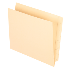 Smead® Manila End-Tab Pocket Folders, Straight Cut, Letter Size, Pack Of 50