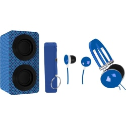Naxa NAS-3061A Portable Bluetooth Speaker System - Blue - 100 Hz to 20 kHz - Battery Rechargeable