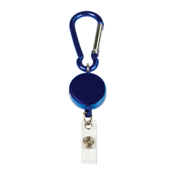 "MyID Carabiner Card Reel, 1 1/4"", Blue"
