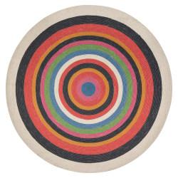 "Anji Mountain Dark Side Round Area Rug, 48"", Multicolor"
