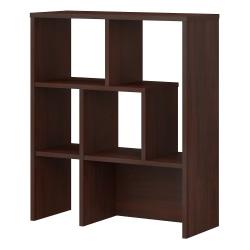 kathy ireland® Office by Bush Business Furniture Centura Bookcase Hutch, Century Walnut, Standard Delivery