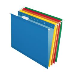 Pendaflex® Premium Reinforced Color Hanging File Folders, Letter Size, Color Assortment #1, Pack Of 25 Folders
