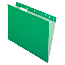 Pendaflex® Premium Reinforced Color Hanging File Folders, Letter Size, Bright Green, Pack Of 25 Folders