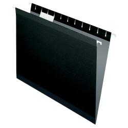 Pendaflex® Premium Reinforced Color Hanging File Folders, Letter Size, Black, Pack Of 25 Folders