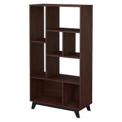 kathy ireland® Office by Bush Business Furniture Centura 8 Shelf Bookcase, Century Walnut, Standard Delivery