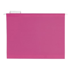 Pendaflex® Premium Reinforced Color Hanging File Folders, Letter Size, Pink, Pack Of 25 Folders