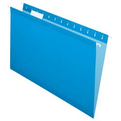Pendaflex® Premium Reinforced Color Hanging File Folders, Legal Size, Blue, Pack Of 25 Folders