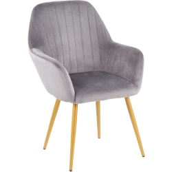 LumiSource Shelton Chair, Silver/Gold