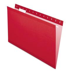 Pendaflex® Premium Reinforced Color Hanging File Folders, Legal Size, Red, Pack Of 25 Folders
