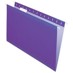 Pendaflex® Premium Reinforced Color Hanging Folders, Legal Size, Violet, Pack Of 25