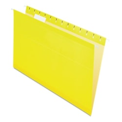 Pendaflex® Premium Reinforced Color Hanging Folders, Legal Size, Yellow, Pack Of 25