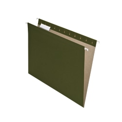 Pendaflex® Earthwise® Hanging File Folders, Letter Size, 100% Recycled, Green, Pack Of 25 Folders