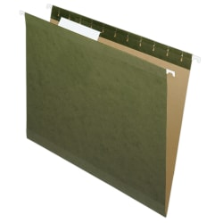 Pendaflex® Premium Reinforced Hanging Folders, 1/3 Cut, Letter Size, Standard Green, Pack Of 25