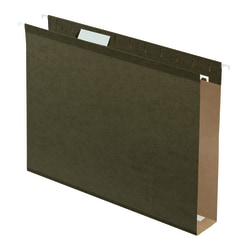 """Pendaflex® Premium Reinforced Extra-Capacity Hanging File Folders, 2"""" Expansion, Letter Size, Green, Pack Of 25 Folders"""