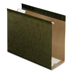 "Pendaflex® Premium Reinforced Extra-Capacity Hanging  File Folders, 4"" Expansion, Letter Size, Green, Pack Of 25 Folders"
