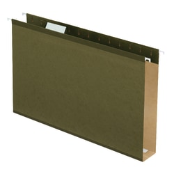 "Pendaflex® Premium Reinforced Extra-Capacity Hanging File Folders, 2"" Expansion, Legal Size, Green, Pack Of 25 Folders"