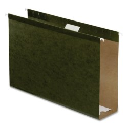 """Pendaflex® Premium Reinforced Extra-Capacity Hanging File Folders, 3"""" Expansion, Legal Size, Green, Pack Of 25 Folders"""