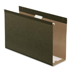 """Pendaflex® Premium Reinforced Extra-Capacity Hanging File Folders, 4"""" Expansion, Legal Size, Green, Pack Of 25 Folders"""