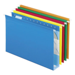 Pendaflex® Premium Reinforced Color Extra-Capacity Hanging Folders, Legal Size, Assorted Colors (No Color Choice), Pack Of 25