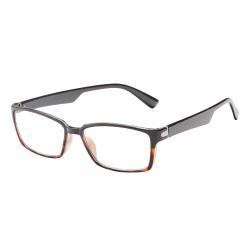 ICU Eyewear Rectangular Reading Glasses, Black, +1.50