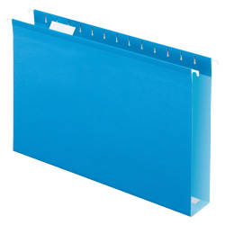 Oxford® Extra-Capacity Box-Bottom Hanging Folders, Legal Size, Blue, Box Of 25