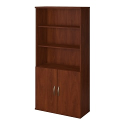 "Bush Business Furniture Components Elite 36""W 5-Shelf Bookcase With Doors, Hansen Cherry, Standard Delivery"