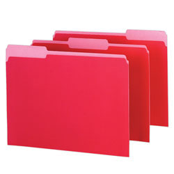 Pendaflex® Color Interior File Folders, 1/3 Cut, Letter Size, Red, Pack Of 100