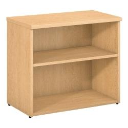 Bush Business Furniture 400 Series 2-Shelf Bookcase, Natural Maple, Standard Delivery