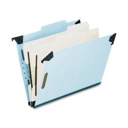 Pendaflex® Hanging Classification Folders, 2 Dividers, 6 Partitions, Letter Size, Blue, Box Of 10