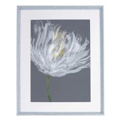 """Lorell® White Flower Design Framed Abstract Art, 27-1/2"""" x 35-1/2"""", Design I"""