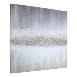 "Lorell® Raining Sky Design Abstract Canvas Wall Art, 40"" x 40"""