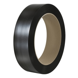 """Office Depot® Brand Smooth Polyester Strapping, 1/2"""" x 4,500', Black, Case Of 2 Rolls"""