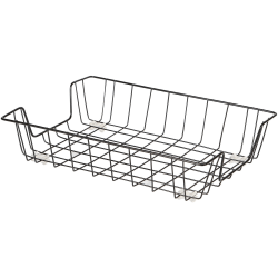 """Lorell Wire Letter Tray - 1 Compartment(s) - 3"""" Height x 10"""" Width x 14"""" Depth x 14"""" Length - Black - Metal, Wire - 1Each"""