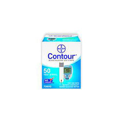 Bayer Contour® Blood Glucose Test Strips, Box Of 50