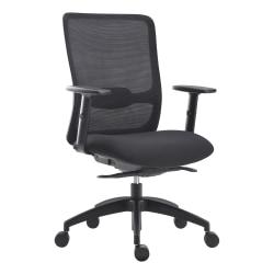 Lorell® SOHO Fabric High-Back Chair, Black