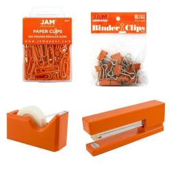 JAM Paper® 5-Piece Office Starter Kit, Orange
