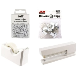 JAM Paper® 5-Piece Office Starter Kit, White