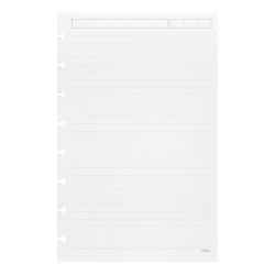 TUL® Discbound Refill Pages, Junior Size, Narrow Ruled, 600 Pages (300 Sheets), White