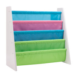 """Honey-Can-Do Itsy-Bitsy Book Rack, 23 5/8""""H x 24 7/16""""W x 11""""D, Pastel/White"""