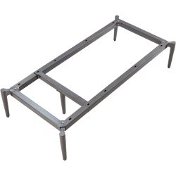 """Lorell Contemporary Collection Adjustable Metal Base - 47.9"""" x 22.9"""" x 9.8"""" - Material: Metal - Finish: Gray"""
