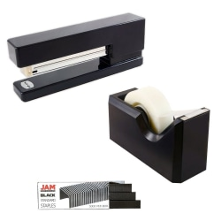 JAM Paper® 3-Piece Office Organizer Set, Black