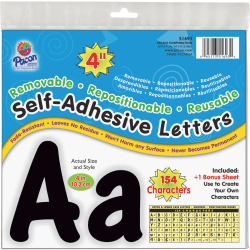 Pacon 154 Character Self-adhesive Letter Set - (Uppercase Letters, Numbers, Punctuation Marks)