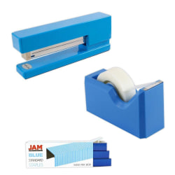 JAM Paper® 3-Piece Office Organizer Set, Blue