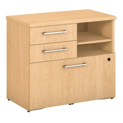 "Bush Business Furniture 400 30""W Lateral 2-Drawer File Cabinet, Natural Maple, Standard Delivery"