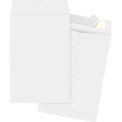 """Business Source Tyvek Open-end Envelopes - Document - 6"""" Width x 9"""" Length - Peel & Seal - Tyvek - 100 / Box - White"""