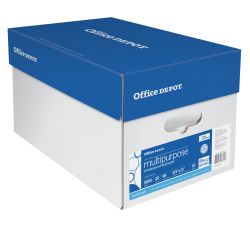 """Office Depot® Brand Multi-Use Paper, 3-Hole Punched, Letter Size (8 1/2"""" x 11""""), 96 (U.S.) Brightness, 20 Lb, Ream Of 500 Sheets, Case Of 10 Reams"""