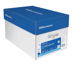 "Office Depot® Brand Multi-Use Paper, Ledger Size (11"" x 17""), 96 (U.S.) Brightness, 20 Lb, Ream Of 500 Sheets, Case Of 5 Reams"