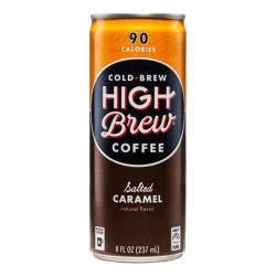 High Brew® Salted Caramel Cold-Brew Coffee, 8 Oz, Carton Of 12