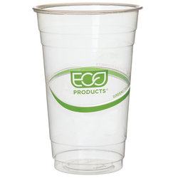 Eco-Products GreenStripe Cold Cups, 20 Oz, Clear, Pack Of 1,000 Cups