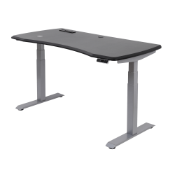 """WorkPro® Electric Height-Adjustable Standing Desk with Wireless Charging, 60"""", Black"""